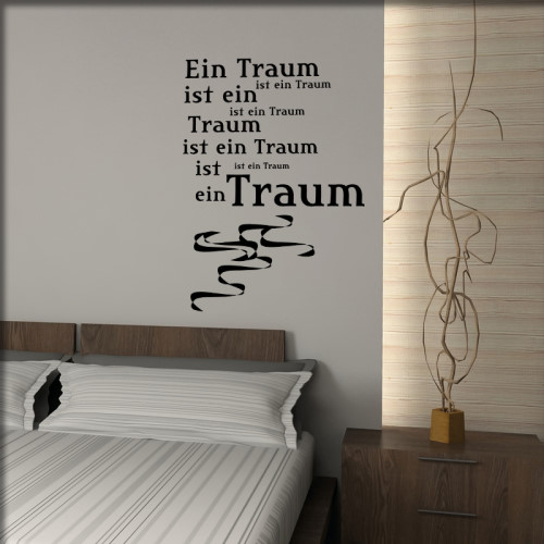 schlafzimmer wandsticker wandmotive wandtattoos. Black Bedroom Furniture Sets. Home Design Ideas