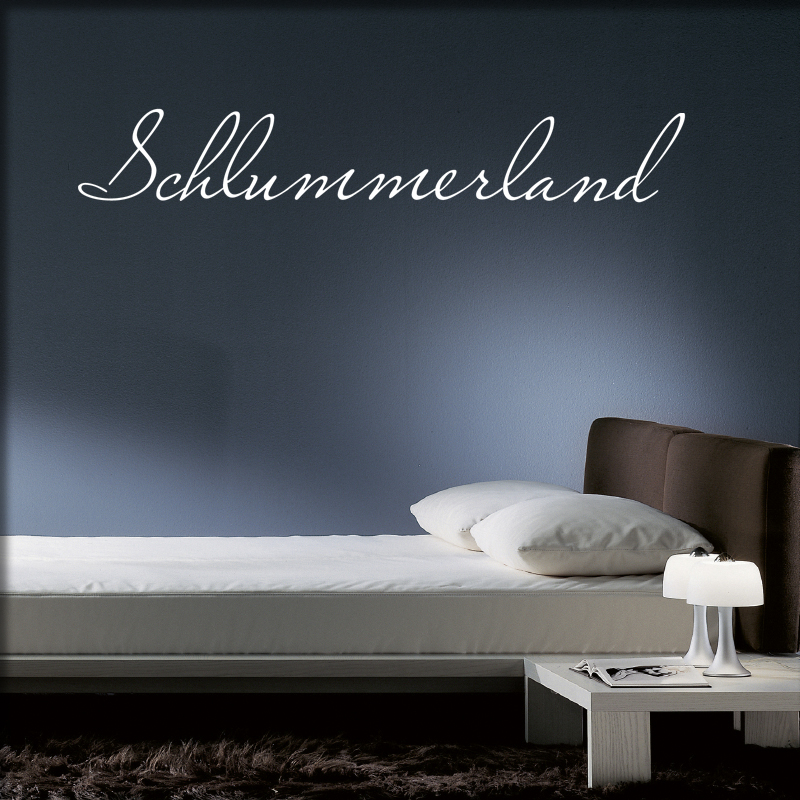 wandtattoo schlummerland f r das schlafzimmer. Black Bedroom Furniture Sets. Home Design Ideas