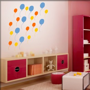 wandtattoo 7 luftballons. Black Bedroom Furniture Sets. Home Design Ideas